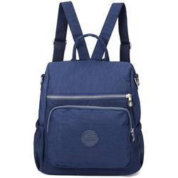 Ladies backpacks, woman nylon backpack shoulder bag multifunctional school backpacks anti theft waterproof shoulder bag daypack for girls leisure time school excursion shopping (dark blue)