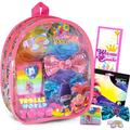 """Trolls Backpack Hair Accessories Set ~ Deluxe 8"""" Mini Trolls World Tour Clear Backpack with Hair Bows, Clips, Ties, Stickers, and More (Trolls Dress Up.., By Brand Trolls World Tour"""