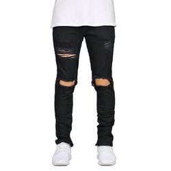 Casual Skinny Denim Jeans For Men Destroyed Taped Slim Fit Denim Pants Denim Hip Hop Pants Trousers For Mens Fashion Mens Slim Fit Skinny Denim Jeans Size S-3XL