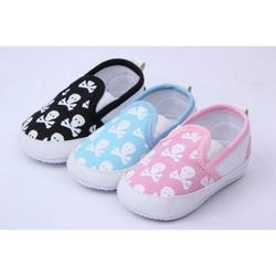 Factory Promotion skull color in stock now! baby skull animal skull shoes baby Shoes pink shoes Toddler shoes