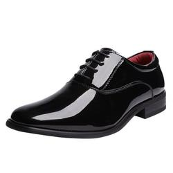 Bruno Marc Men's Classic Oxford Shoes Formal Dress Business Shoes Lace Up Comfort Loafer Shoes For Men CEREMONY-05 BLACK Size 9.5