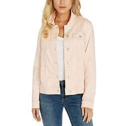 Buffalo David Bitton Womens Knit Denim Jacket (Light Pink, Medium)