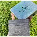 Kate Spade Lola Joeley Glitter Card Holder Wallet Dusk Navy Gift Box