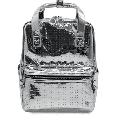 Disney Visa Cardmember Exclusive Metallic silver Vinyl Backpack Limited New Tag