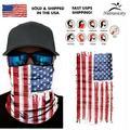 American Flag USA Face Balaclava Scarf Neck Fishing Sun Gaiter Headwear Mask