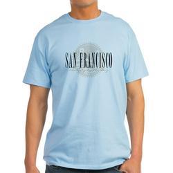 CafePress - San Francisco Bridge Ash Grey T-Shirt - Light T-Shirt - CP