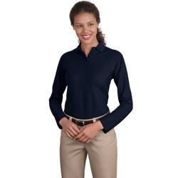 Port Authority Ladies Long Sleeve Silk Touch Polo