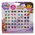 Dora and Boots Assorted Shape Kids Sticker Earrings (24 Pairs)