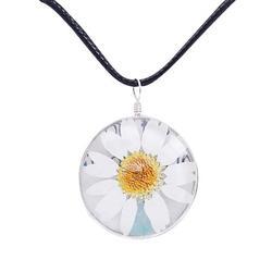 Pressed Flower Necklace Creative Dried Flower Necklace Flower Pendant Necklace