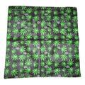 "22""x22"" Weed Marijuana E Cannabis Unum Leaf Border Bandana"
