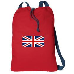 Canvas England British Flag Drawstring Bag DELUXE United Kingdom Backpack Cinch Pack for Him or Her