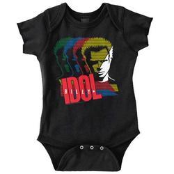 Billy Idol Newborn Romper Bodysuit For Babies Vintage 80s Punk Rock Music Tour