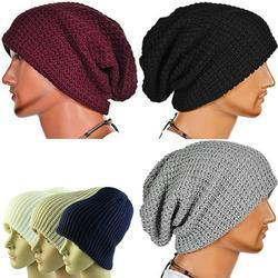 AYYUFE Men Winter Knitting Baggy Cap Casual Warm Keeper Beanie Knitted Crochet Hat
