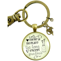 Grandmother Keychain There No Place Like Home Except Grandma's House Gift Charm