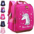 """Unicorn Backpack for Girls 15"""" Durable and Functional School Book Bag, Perfect Size for Kindergarten or Elementary Pink Back Pack(Unicorn)"""