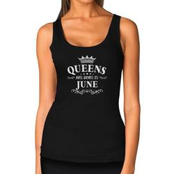 Tstars Womens Birthday Gift for Women Queens Are Born in June Birthday Party B Day Women Tank Top