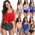 Pudcoco Womens High Waist Bikini Set Push Up Swimsuit Bathing Suit Beach Swimwear Lot