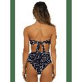 Women High Waisted Bandeau Bikini Set Strapless 2 Piece Bathing Suit Swimsuits Tie Wrap Swimsuits