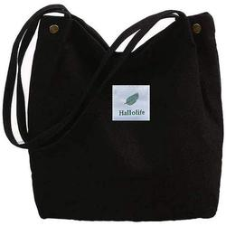 Canvas Bag Women Canvas Shoulder Bag Shopper Casual Handbag Large Chic school backpack for everyday office school excursion shopping, 38 x 32 x 11cm