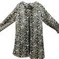 SweetCandy Women Fall Jacket Women Fashion Leopard Printed Sexy Winter Warm Wide Female Jackets Wind Cardigan Long Coat
