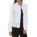 Honey Creek by Scully Contemporary White Jean Jacket