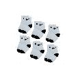 Nike Kids' Toddler Ankle Socks (6 Pairs), White/Black, 2-4 Years
