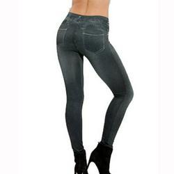 Womens Jeggings High Waist Denim Leggings with Pocket ,Leggings Jeans Women Denim Pants with Pocket Slim Jeggings Fitness Leggings