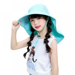 Outdoor Sun Hat Kid Fashion Big Sun Hat Beach Hat Anti-UV Sun Protection Folding Cap Children Summer Hot Travel Hat Wide Brim Wide Beach Hat