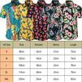 Men Summer Vintage Casual Dress Shirt Mens Floral Short Sleeve Shirts Tops Tee