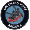 Applique Outdoors Rafting The Colorado River Theme Hook Backing Decorative Patch Funny Saying Biker Emblem