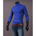 Musuos Fashion Mens Thermal Cotton Turtle Roll Neck Skivvy Turtleneck Sweater Stretch Shirt