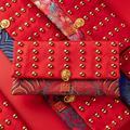 ZDMATHE New Year Embroidered Jewelry Storage Bag Organizers Pocket Coin Purse Samll Change Purse Wallet Wedding Gift Bag for Women Girls