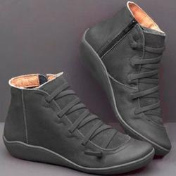 Best Choice Autumn And Winter Ladies Casual Shoes Side Zipper Casual Flat Warm Shoes
