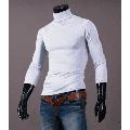 Puloru Fashion Mens Thermal Cotton Turtle Roll Neck Skivvy Turtleneck Sweater Stretch Shirt
