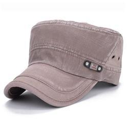 Men Women Classic Army Plain Cadet Hat Cadet Military Baseball Sport Adjustable Cap