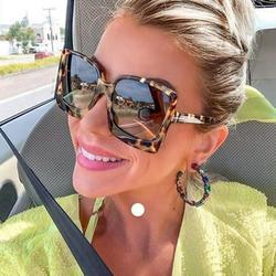 Famure Sunglasses Square Sunglasses Fashion Oversized UV Protection Sunglasses for Women Men