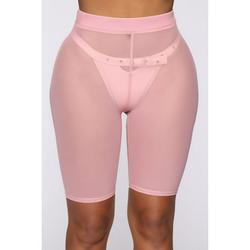 Canis Women See Throug Mesh Fishnet Swimsuit Cover up Pants Bikini Bottom Cover up Shorts