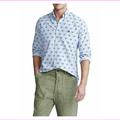 Polo Ralph Lauren Men's Classic Fit Tiger-Print Shirt,Size M