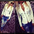 Fashion Women's Long Sleeve Coat Jacket Zipper Hoodies Outwear New Stylish