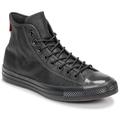 CONVERSE Chuck Taylor All Star Leather Mono Hi Sneakers Almost Black / Almost Black / Black
