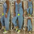 XIAXAIXU Women Baggy One-Piece Jumpsuits Overalls Denim Jeans Bib Trousers Long Pants