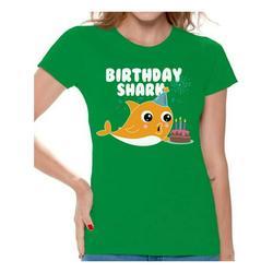 Awkward Styles Shark Ladies T-shirt Shark Women's Shirt Shark Themed Party Shark Gifts Tshirt for Mom Shark Birthday Party Kids B-Day Outfit Kids Party Outfit for Grandma Lovely Shark Shirt for Wife