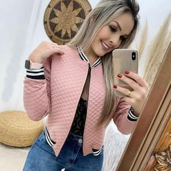 Women's Long Sleeve Baseball Shirt Zip Jacket Baseball Jacket Casual Jacket