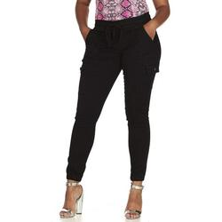 V.I.P. JEANS Womens Running Pants - Stretchy Jeans Pants for Women - Black Cargo, XXX-Large