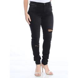 FREE PEOPLE Womens Black Frayed Skinny Pants Size: 30 Waist