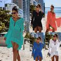 Women Ladies Bikini Cover Up Bathing Suit Lace Crochet Swimwear Beach Dress