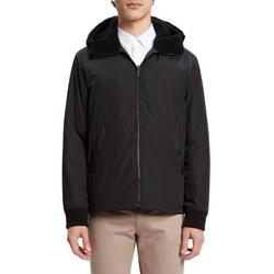 Theory BLACK Vernon Faux Shearling Trim Technical Liner Jacket, US Large