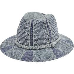 Women's San Diego Hat Company Chenille Patterned Knit Fedora KNH2004