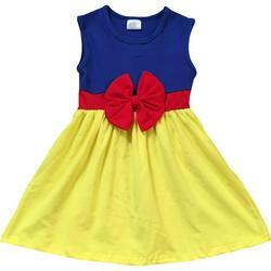 Little Flower Girl Kids Cute Sleeveless Bow Summer Party Flower Girl Dress Yellow 5 L 201280 BNY Corner