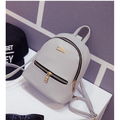 1pc Women Small Backpack Travel Mini PU Leather Girls Ladies Cute Backpacks Shoulder Book School Bag backpack 19*18*10cm